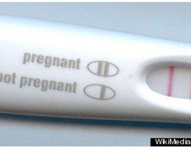 Đàn ông nên dùng... que thử thai hàng tháng
