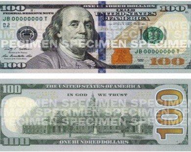 Tờ 100 USD có diện mạo mới