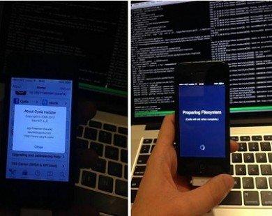 Những hình ảnh đầu tiên về việc Jailbreak iOS 7