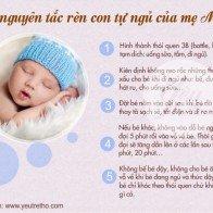 5 nguyên tắc rèn con tự ngủ của mẹ Mỹ
