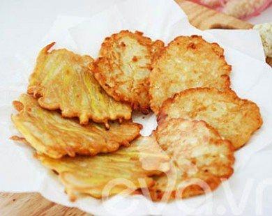 Bánh ngô, bánh khoai chiên: Dễ làm, giòn thơm