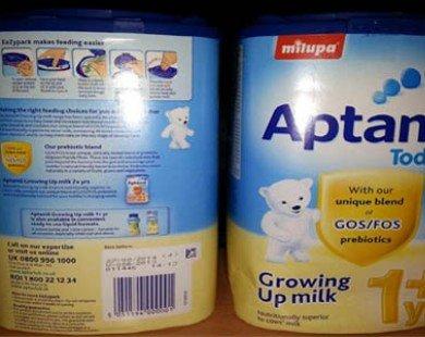 Có nhôm trong sữa Aptamil bán ở Việt Nam