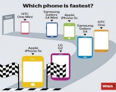 iPhone 5S được công nhận là chiếc smartphone nhanh nhất hiện nay