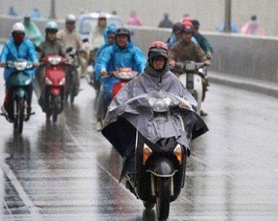 Mẹo đi xe máy trời mưa