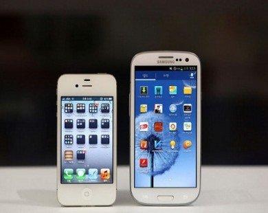 Samsung 'đè bẹp' Apple thị phần điện thoại thông minh