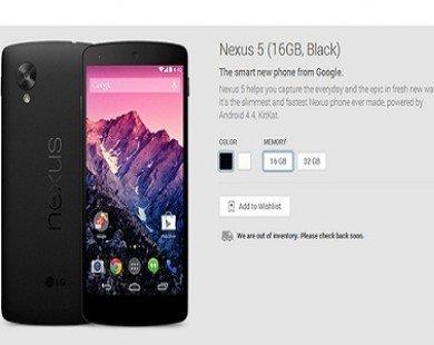 Nexus 5 cháy hàng trên Play Store sau 33 phút