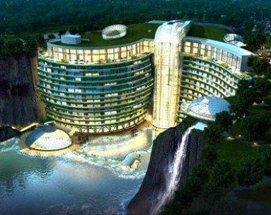 Khách sạn siêu sang cực ấn tượng dưới lòng đất