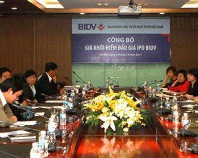 BIDV phát hành cổ phần lần đầu, giá khởi điểm 18.500 đồng