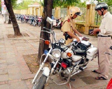 Quy định các mức phạt người điều khiển xe máy vi phạm giao thông (Phần 1)