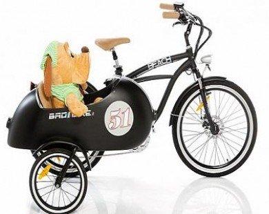 Cận cảnh chiếc sidecar chạy bằng điện đầu tiên trên thế giới