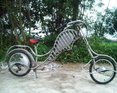 Xe đạp tự chế độc nhất của thợ cơ khí Nam Định