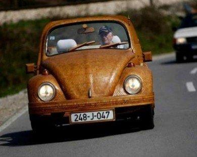 Cụ ông 71 tuổi mặc 'áo gỗ' cho xe