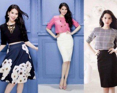Học Ngọc Trinh phong cách thời trang công sở sang trọng và sexy