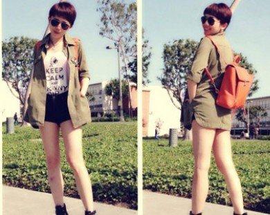 Áo khoác mùa hè sành điệu của sao Việt