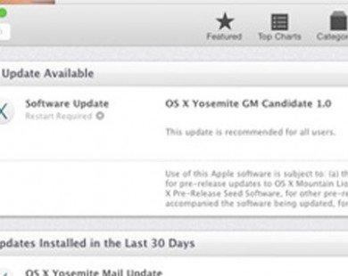 Apple tung ra bản OS X Yosemite GM cho lập trình viên