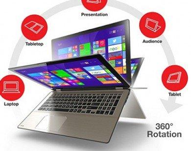 Toshiba ra mắt laptop lai máy tính bảng kích thước lớn