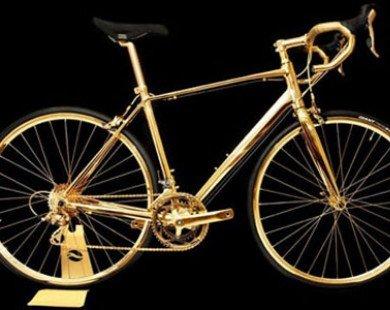 Xe đạp mạ vàng 24K đắt ngang xế tiền tỷ Rolls-Royce Wraith