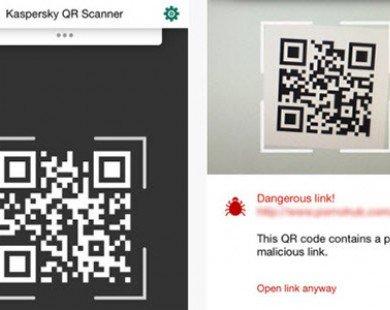 Kaspersky tung ứng dụng quét mã QR miễn phí