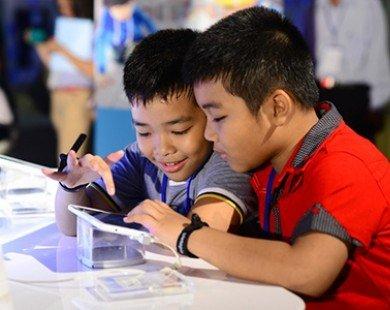 Samsung ra mắt tablet Galaxy Tab 3 V dành cho học sinh VN