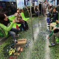 Thú vị với tàu điện ngầm vẽ tranh 3D ở Trung Quốc