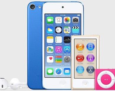 Lộ diện ảnh iPod Touch, iPod Nano và iPod Shuffle với 2 màu mới trong iTunes 12.2