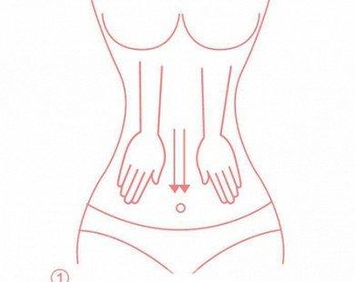 7 động tác tự mát xa giảm mỡ bụng