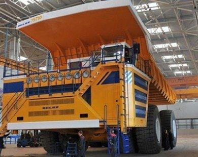 Chạy thử nghiệm xe trọng tải 90 tấn động cơ điện tại mỏ than