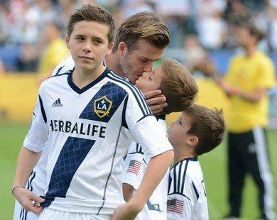 Vén màn cách dạy con đặc biệt của David Beckham