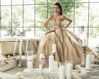 Khả Trang lộng lẫy với váy cưới phong cách hoàng gia