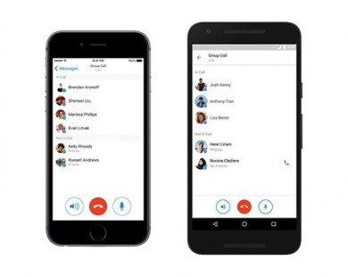 Facebook Messenger cho phép gọi điện nhóm tối đa 50 người