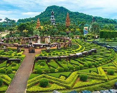 Khu vườn nhiệt đới Nong Nooch ở Pattaya Thái Lan