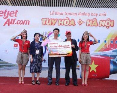Vietjet tưng bừng khai trương đường bay từ Hà Nội đến Tuy Hòa