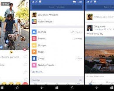 Đã có ứng dụng Facebook chính chủ cho Windows 10 mobile