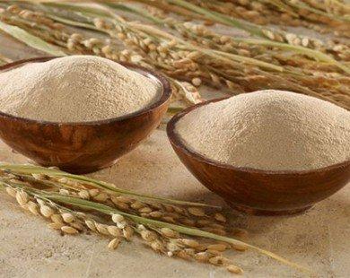 Da trắng hồng, mịn màng từ cám gạo
