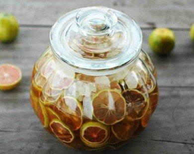 Cách ngâm chanh đào, mật ong và đường phèn thơm ngon, đơn giản