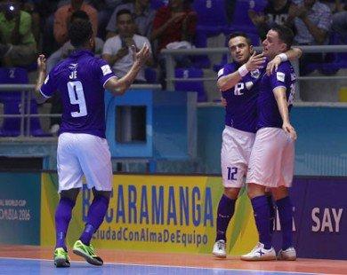 Cập nhật kết quả Futsal World Cup 2016 (ngày 15.9)