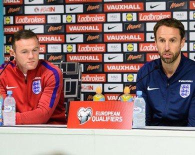 """HLV Southgate quyết định """"trảm"""" Rooney"""