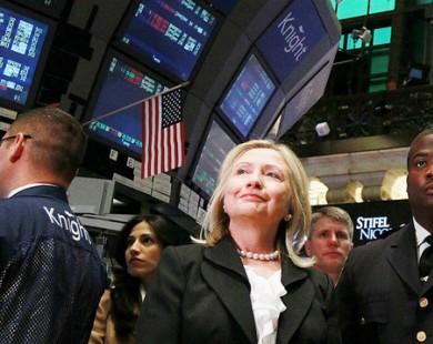 Dự đoán bà Clinton thắng, chứng khoán thế giới đồng loạt tăng điểm