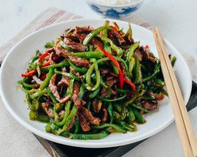 Biến tấu món thịt bò xào ớt xanh