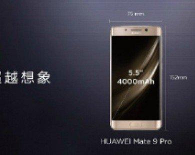 Huawei trình làng Mate 9 Pro màn hình cong 2K
