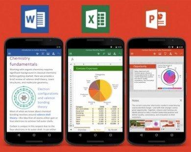 Microsoft cập nhật ứng dụng văn phòng cho Android