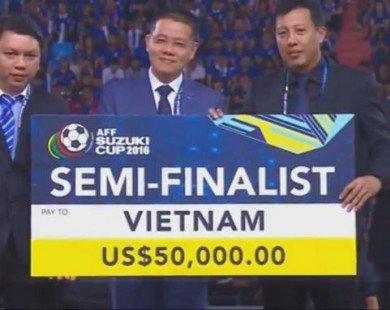 Hậu AFF Cup 2016, ĐT Việt Nam nhận 4 tỷ đồng tiền thưởng?