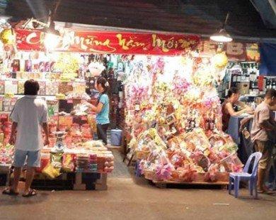 Tràn ngập bánh kẹo, mứt tết không rõ nguồn gốc tại các chợ truyền thống