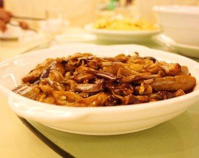 Món ngon với cà tím: Cà tím xào khô cá cơm