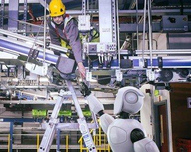 Siêu thị trực tuyến ở Anh dùng robot vận chuyển hàng hóa