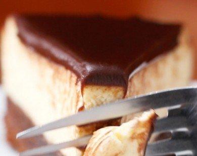 Cách làm bánh phô mai brownie phủ kem chocolate