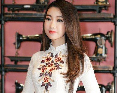 Xao lòng vì vẻ đẹp tinh khôi không tỳ vết của HH Mỹ Linh trong tà áo dài trắng