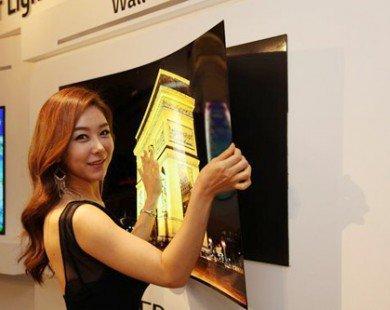 LG trình làng TV OLED dán tường siêu mỏng