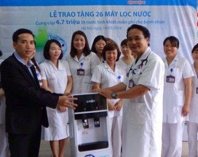 Máy lọc nước hiện đại đã có mặt ở bệnh viện E