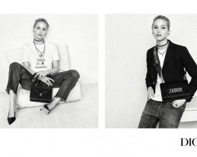 Jennifer Lawrence giản dị trong chiến dịch Dior Thu Đông 2017